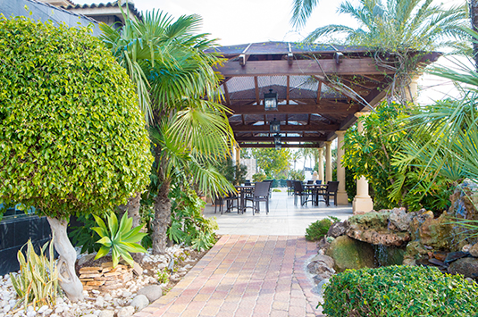 Jardín, restaurante Estanquet